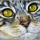 Blink Macro Cat Painting by Michelle Wrighton