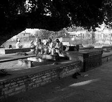 Retired men gossiping under a tree by nisheedhi