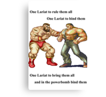 Zangief and Haggar, powerbombs and lariats Canvas Print