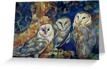 barn owls by elisabetta trevisan