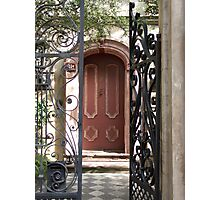 Charleston Door & Iron Gate Photographic Print