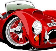 AC Cobra 427 red by car2oonz