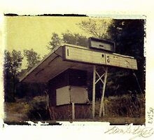 Camp Horne Drive-In Entrance by Steven Godfrey