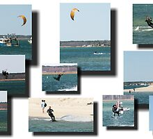 Kite Surfing at Seabrook Harbor, NH by Rpnzle