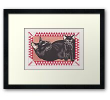 Boris (double portrait) Framed Print