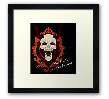 Devil in the Mirror - Writing Framed Print