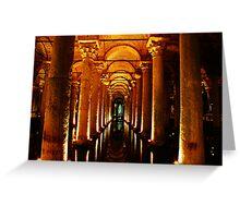 Basilica Cistern, Istanbul Greeting Card