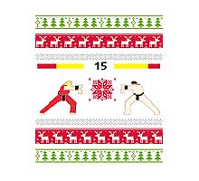 Christmas Fighter  Photographic Print