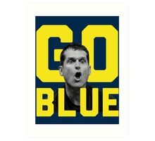Jim Harbaugh GO BLUE Art Print