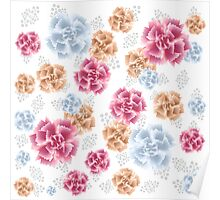 Beautiful Colourful Carnations Poster