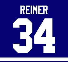 Toronto Maple Leafs James Reimer Jersey Back Phone Case by Russ Jericho