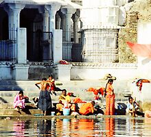 Washing Day, Udaipur, India by rochelle