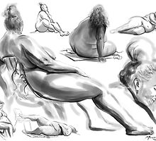Life Drawing: Female Day 1 by marvision