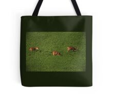 Deer in Bean Field Tote Bag