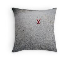 X marx the X-roads Throw Pillow