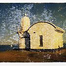 Taking Point Lighthouse - Fuji FP100C Image Transfer. by David Amos