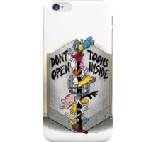 Don't open, TOONS inside. iPhone Case/Skin