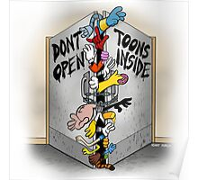 Don't open, TOONS inside. Poster