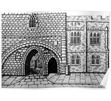 256 - ABBEY ARCH, NORTHGATE STREET, CHESTER DAVE EDWARDS - INK 2014 Poster