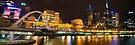 Melbourne Skyline @ Night by Alistair Wilson