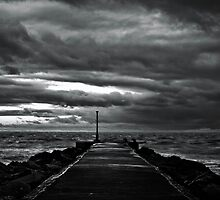 Stormy Breakwater by Phil Gribbon