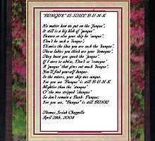 'Bunque' is still B-U-N-K by Thomas Josiah Chappelle
