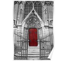 Notre Dame's Red Door Poster