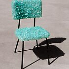 Glass Chair sculpture by Zack Nichols