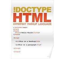 web design - HTML Poster