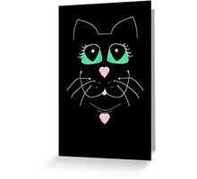 Cat With Sweet Heart Pendant Greeting Card