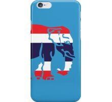 Asian Elephant Crossing Thai Flag Traffic Sign iPhone Case/Skin