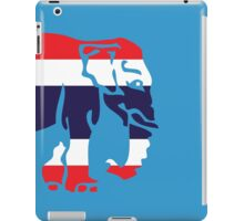 Asian Elephant Crossing Thai Flag Traffic Sign iPad Case/Skin