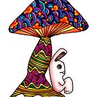 Rabbit by a Mushroom by Octavio Velazquez