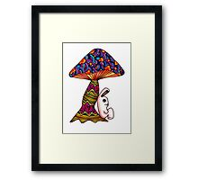 Rabbit by a Mushroom Framed Print