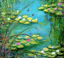 Fairy Tale Water Lilies Pond by Carla Parris