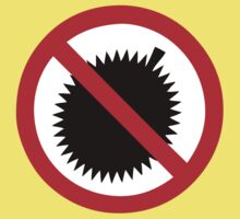 NO Durian Tropical Fruit Sign Kids Clothes
