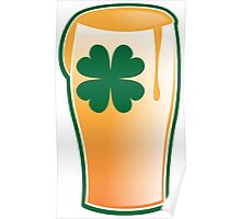 IRISH shamrock pint glass Poster