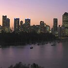 Brisbane By Dusk by Paul Coussa