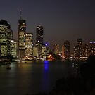 Brisbane By Twilight by Paul Coussa