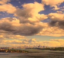 Big Sky Big City - Moods Of A City # 5 - The HDR Series - Sydney Harbour, Sydney Australia by Philip Johnson