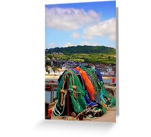 Fishing Nets on The Cobb Greeting Card