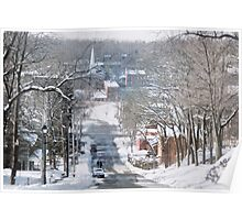 Winter in Galena Poster