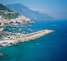 Amalfi from above by Elana Bailey