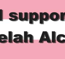 I support Leelah Alcorn (black) Sticker