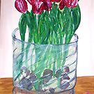 """""""A Few More Tulips"""" by Adela Camille Sutton"""