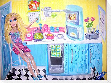 """Doll's Coffee Break"" by Adela Camille Sutton"