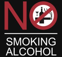 NO Smoking Alcohol Sign Kids Clothes