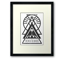 Sync with the Universe - Typography and Geometry Framed Print