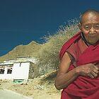 Tibetan Monk, Shigatse, Tibet by Hugh Chaffey-Millar