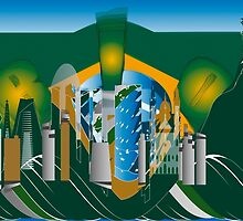 abstract Rio skyline by siloto